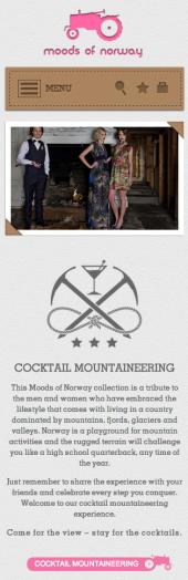 hjemmesiden til Moods of Norway på liten skjerm