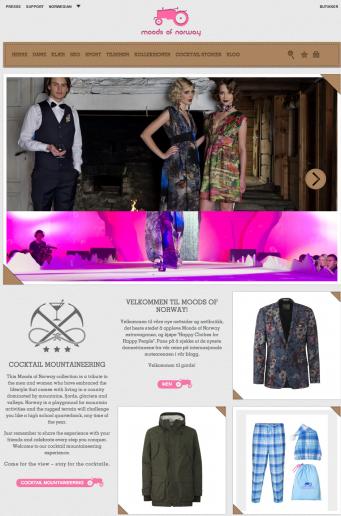 Hjemmesiden til Moods stor skjerm