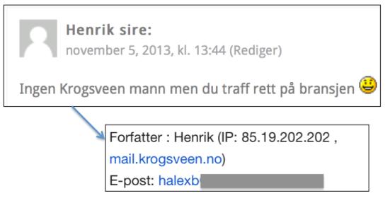 Løgnen til fagansvarlig i Krogsveen blir avslørt av IP-adressen